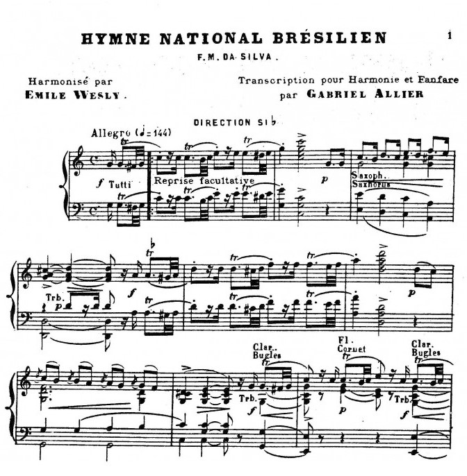 L'hymne national du Brésil