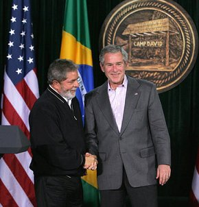 bresil-lula-bush-camp-david-white-house-eric-draper